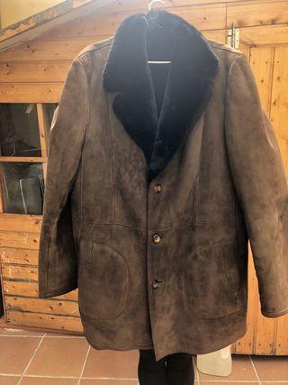 Abrigo hombre piel Mouton