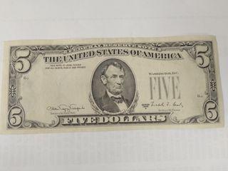 Vendo billete de 5 dolares raro