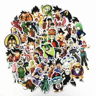 Lote de 50 pegatinas de Dragon Ball. Lote B.