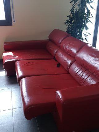 sofá cama eléctrico de piel