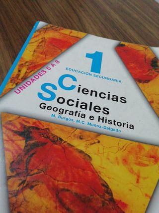 Libro de Ciencias Sociales de 1ro ESO.