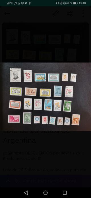 Lote de 25 sellos de Argentina