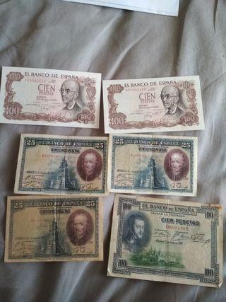 Billetes de España a 3€/ud.