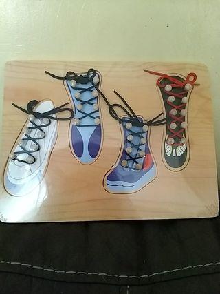 Puzzle zapatos aprendizaje cordones