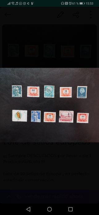 Lote de sellos europeos