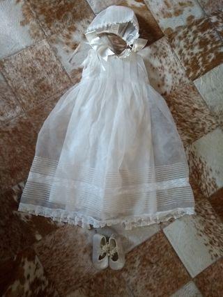 faldón, vestido bebé
