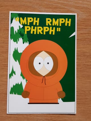 Postal South Park Kenny
