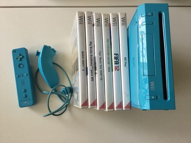 Consola Wii completa más 6 juegos de regalo