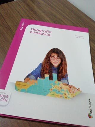 Libro de Geografía e Historia de 3ro ESO.