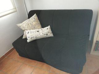 sofá cama con funda de pana nueva