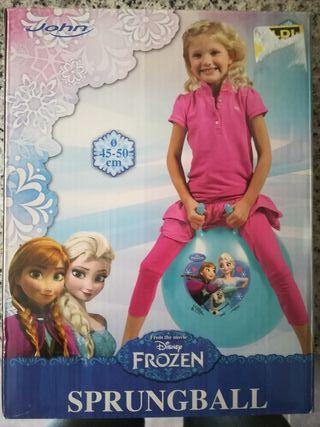Polota de saltar con cuernos Frozen 50cm