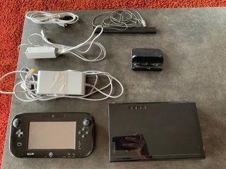 Wii U + todos los componentes de la caja