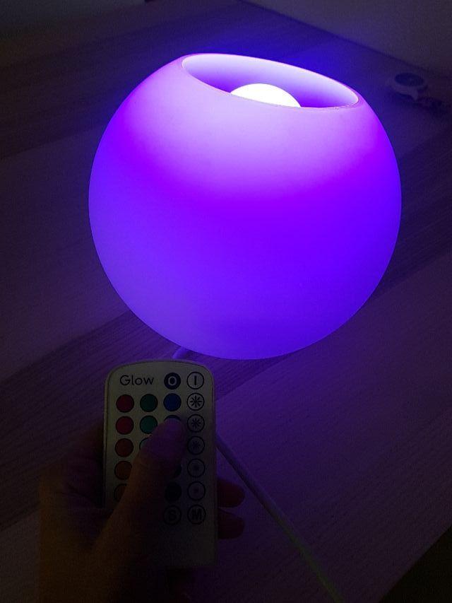 lámpara colores