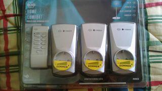 SET 3 ENCHUFES REGULADORES CON MANDO AB600/3A N