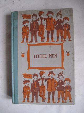 libro little men Louisa May Alcott antiguo ilustra