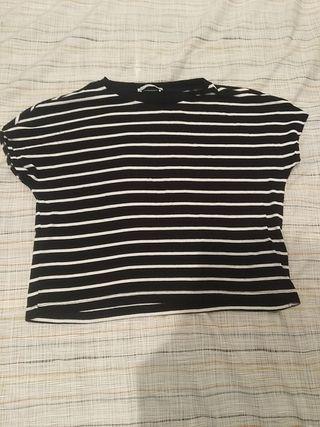 camiseta corta de zara talla m