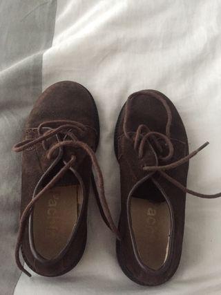 Zapato niño marrón serraje n29