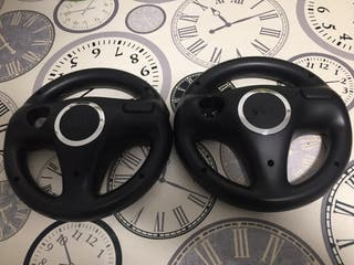 Pack 2 volantes Wii negro plata