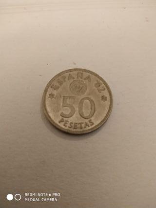 Moneda de 50 pesetas.
