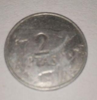 Moneda de 2 pesetas .