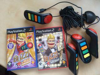 mando y dos juegos Buzz