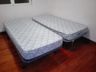 Colchónes con somiers.