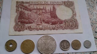 Billete Cien pesetas época Franco