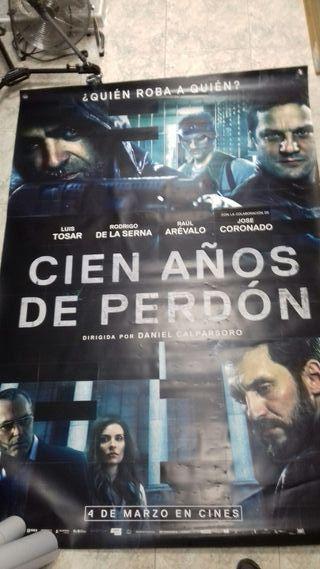 OFERTA CARTEL DE CINE ORIGINAL CIEN AÑOS DE PERDÓN