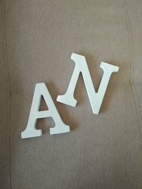 letras madera pintada