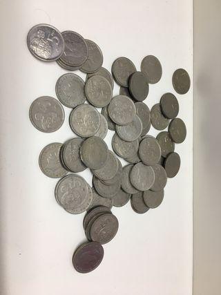 Lote Monedas 5 pesetas