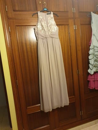 vestido de fiesta maquillaje o nude talla 38
