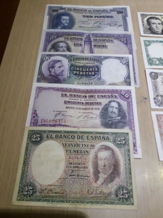 colección de billetes antiguos de España.