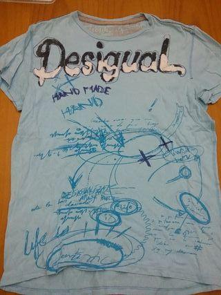 Camiseta chico desigual talla M
