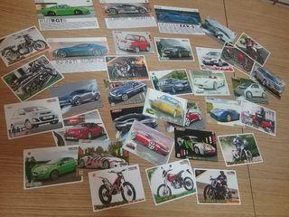 34 cromos coches y motos