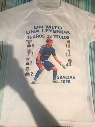 Camiseta talla M iker casillas homenaje