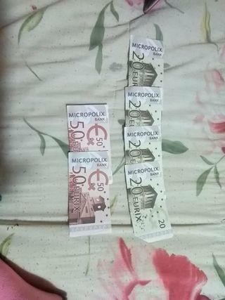6 billetes de mocropolix