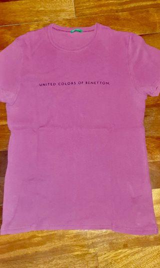 Camiseta Benetton fucsia, talla M