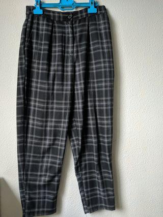 pantalón de cuadros recto