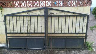 Portal de hierro para finca