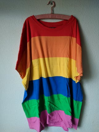 camiseta multicolor