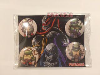 Pack 4 chapas Tortugas Ninja