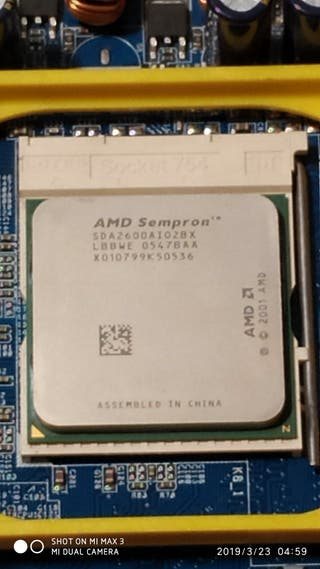 Procesador AMD sempron (SDA2600AI028X)