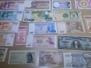 Billetes varios paises