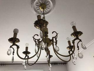 lampara techo cobre