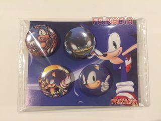 Pack 4 chapas Sonic