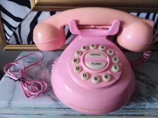 Teléfono retro Rosa antiguo