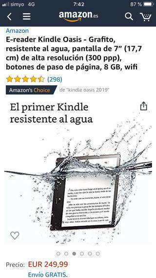 Libro electronico kindle oasis