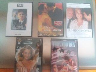 DVD películas antiguas cinco.