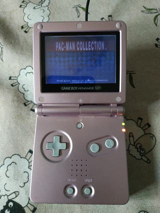Game boy advance SP + Pac-Man Collection