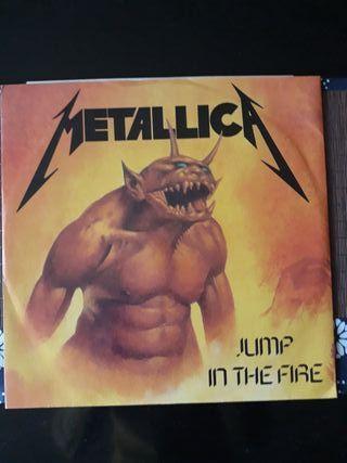 disco vinilo Metallica Jump in the Fire